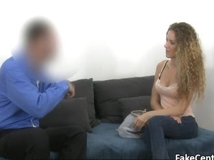 Slim babe creampied on casting