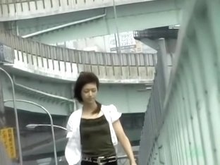 Japanese little slag with sexy feet getting caught into sharking web