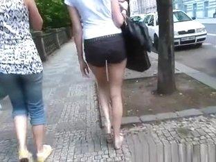 Girl in black shorts
