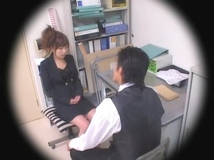 Jap cutie smacked hard in hidden cam office sex video