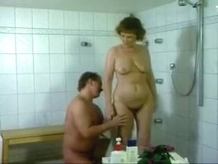 German mom getting fucked in the bathroom