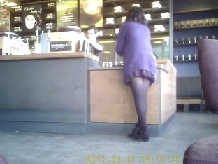 beautiful legs at coffee shop