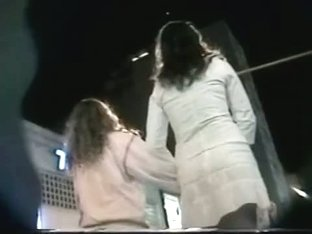 Street voyeur is hunting for his up skirt view of a hot girl