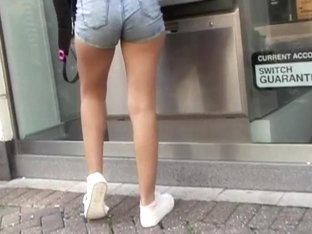 Teenage ass in denim shorts 2