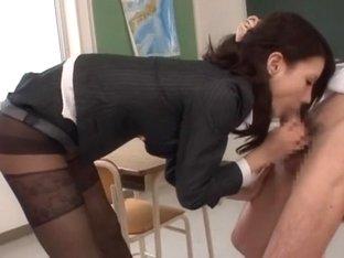 Crazy Japanese whore Haruka Sanada in Horny Stockings, Creampie JAV clip