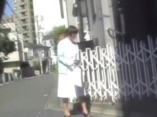 Brown-haired Japanese gal gets caught off the guard during sharking attack