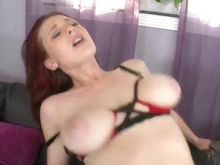 Amazing redhead babe with big boobs Jessica R fucks with Latina boy Juan Largo