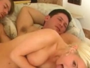 Glamorous Blond Czech Hotty Double Stuffed