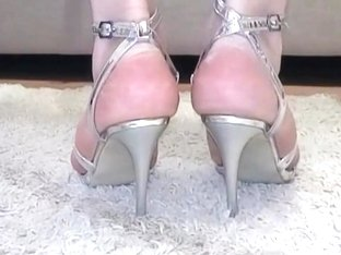 Silver Sexy Bambi Sandals make me horny when I wear them