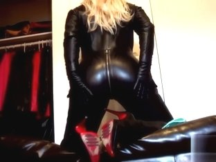 Latex Catsuit Woman