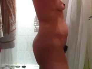 Spy hot nude wife on hidden webcam finishing her shower