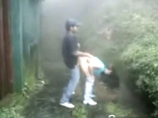 Lalin Cutie Legal Age Teenager Has A Quickie With Her BF In The Rain