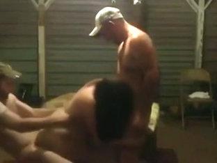 Redneck threesome on the patio