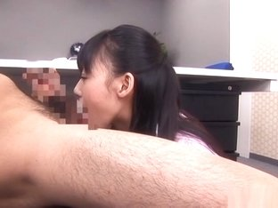 Asian office lady is a hot milf getting banged on a desk