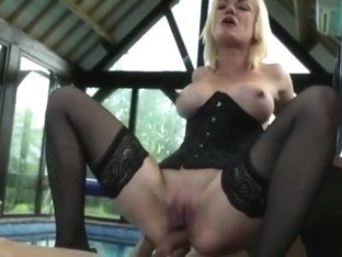 French Cougar  her junior Gardener