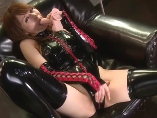 Best Japanese chick Akiho Yoshizawa in Horny doggy style, latex JAV video