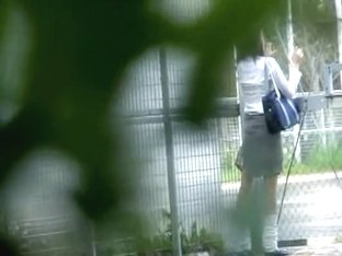 Skinny innocent hottie loses her green skirt after some stranger snatches it