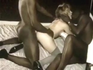 Retro Of French Blonde With 3 Blacks