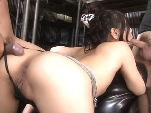 Best Japanese chick Maki Takei in Crazy JAV uncensored Group Sex video