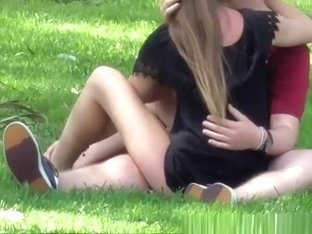 Teen couple spied in public park