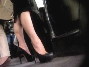 Voyeur Sexy Businesswoman Legs & Heels