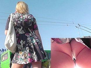 Sexy ass upskirt video amazes with appetizing butt