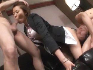 Amazing Japanese girl Erika Ando in Incredible Creampie, Stockings JAV video