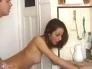 Shaina la beurette (French Arab beauty) drilled in the kitchen