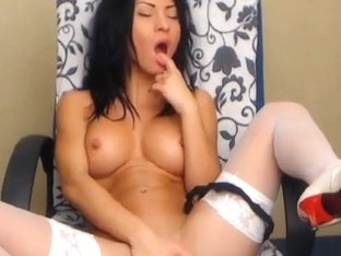 Busty Hottie Masturbating