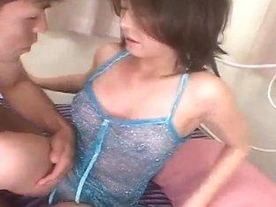 Japanese AV Model gets a lot of cum in already aroused