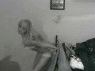 Hot blonde teen amateur stripping