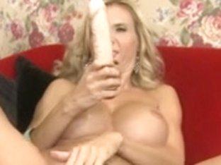 Older Brooke tries on some bras