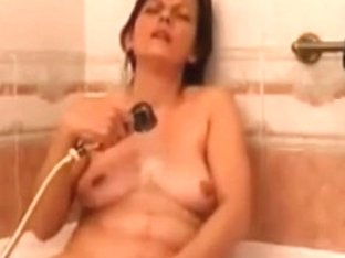 mother i'd like to fuck fucking herself with sex tool during the time that that babe is showering
