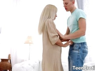 Sweet Blonde Teen Bambi Dee Gets Passionately Drilled by Her BF