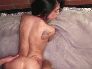 Gymnast Small Tits Brunette rubs clit gets fucked from behind