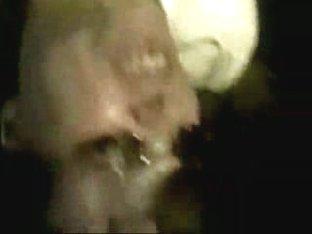 Gal giving blowjob ending in a facial