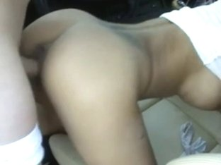 Big tit brunette takes in all holes