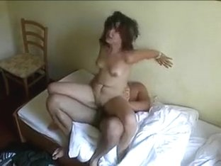 Cheating wife copulates her paramour in a Motel