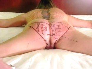 If you haven't panties then draw it on your own booty