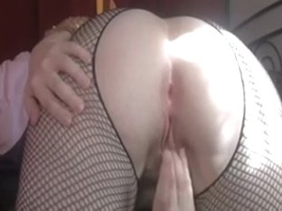 Check out my white mother i'd like to fuck booty from behind in fishnets