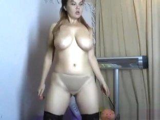 Naked LiliLong in front of webcam