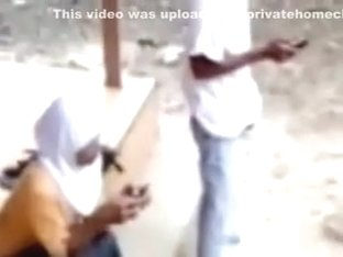 Arabian Hijabi Courageous College immature Hot Foreplay in Public Place