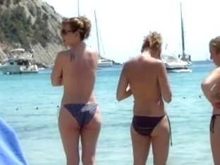 incredible sister beach topless ibiza