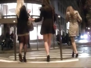 Group girls in skirt and shoes