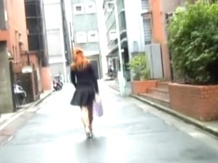 Red-hot Japanese princess flashes her booty when her dress gets lifted