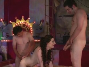 RawVidz Video: Brunette Whore In MMF Threeway