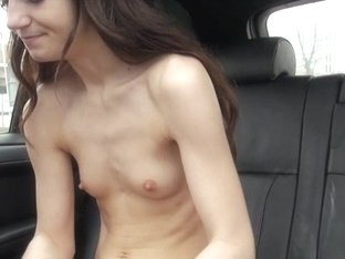 Constricted non-professional babe group-fucked with stranger boyfrend in a car