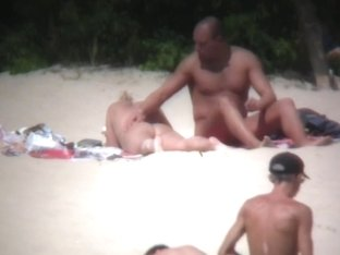 Nudist beach is full of voyeur's naked material