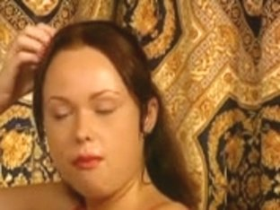 Slut in pantyhose and her her first double penetration