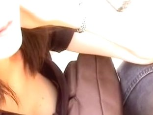 Asian slut unsuspectingly shows her tits on downblouse video